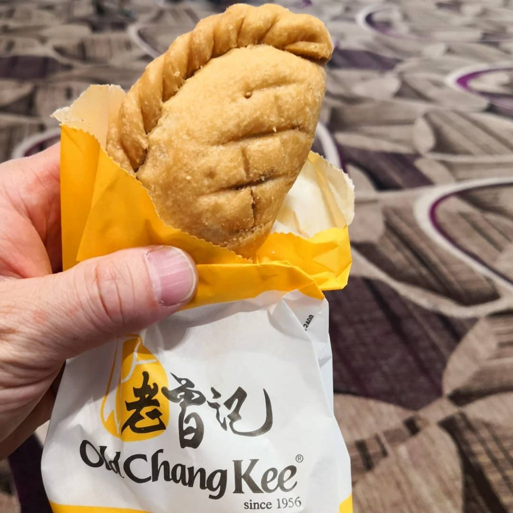 Old Chang Kee Free Curry Puff wrapper