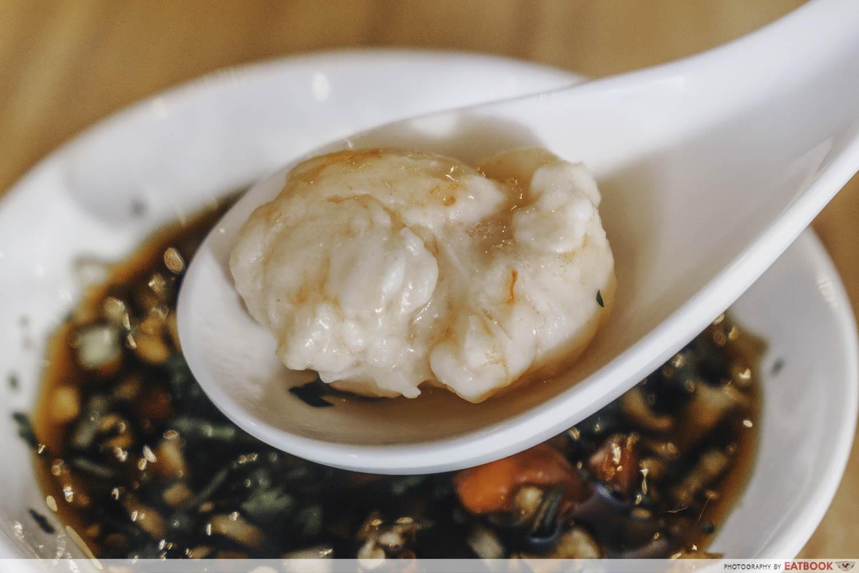Congee Legend - house made prawn balls