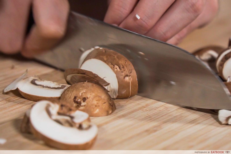 Gotcha Pork Roast - Mincing of mushrooms