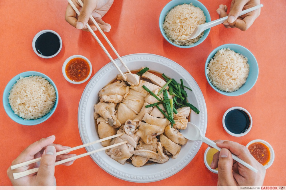 Heng Ji Chicken Rice - Flatlay