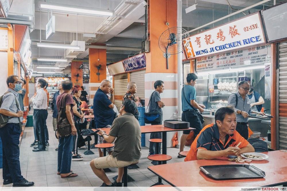 Heng Ji Chicken Rice - Shot of Long Queue