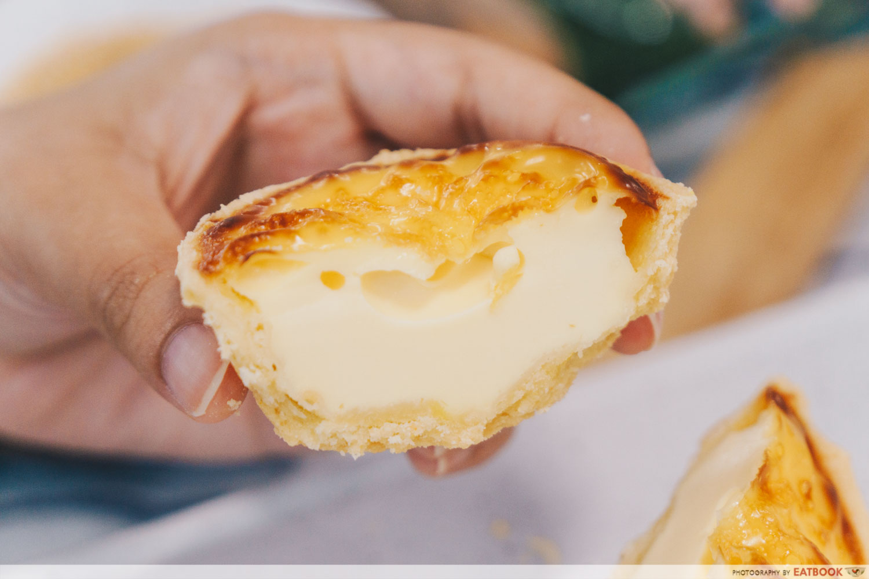 June Bakery - Portuguese egg tart close up