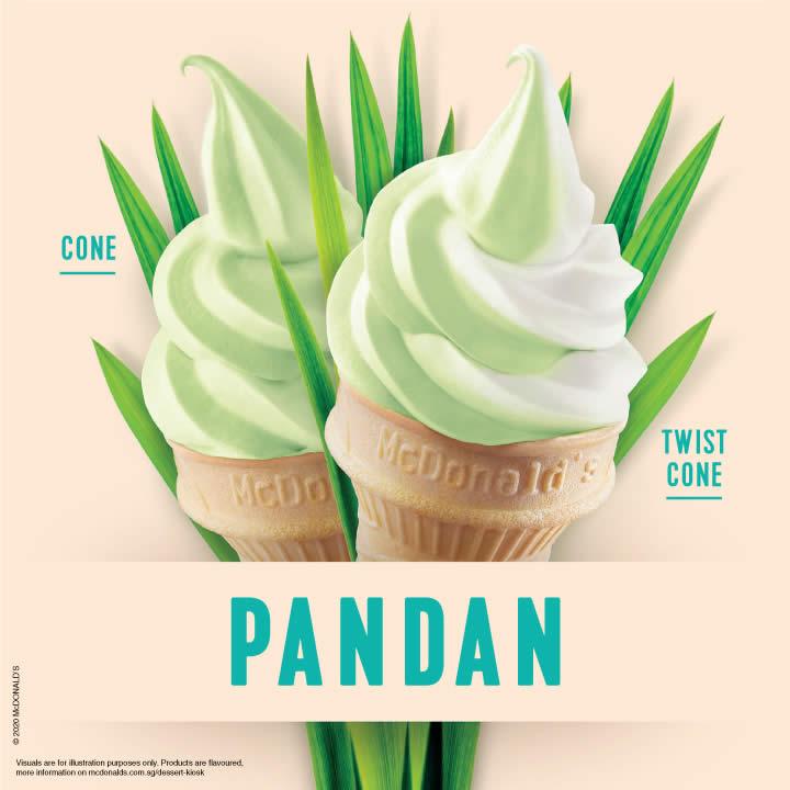 McDonald's Pandan - Pandan Cones