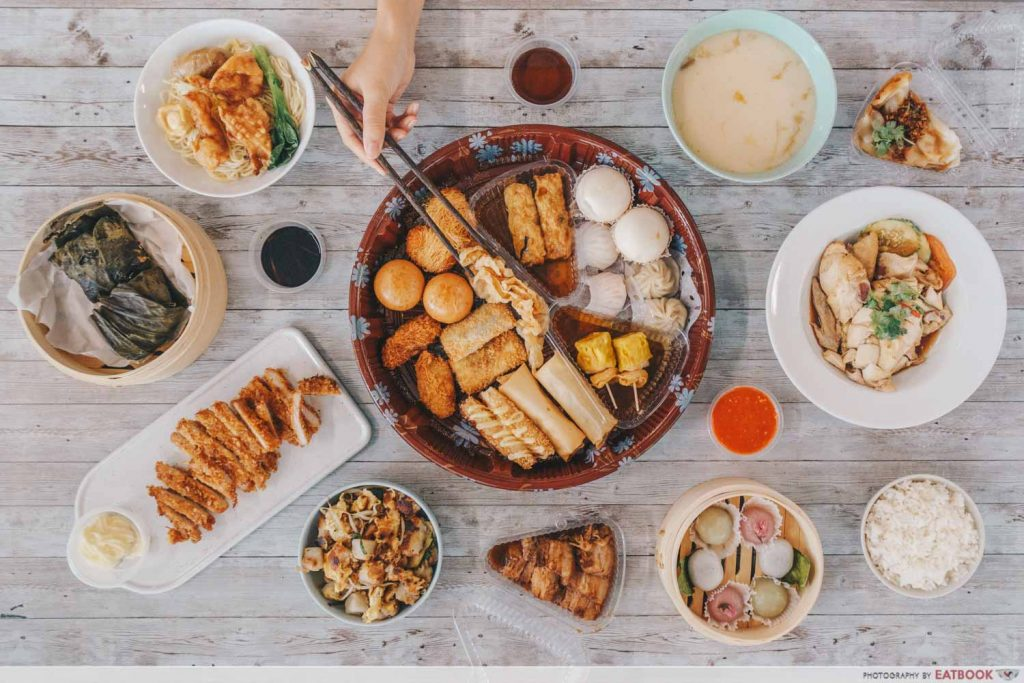 Mister Wu Dim Sum Delivery Flatlay