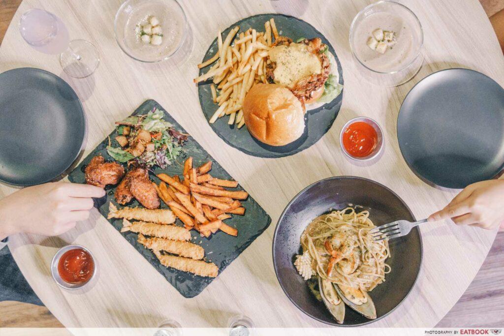 Tampines West Dining Spots 7th Heaven KTV & Café flatlay