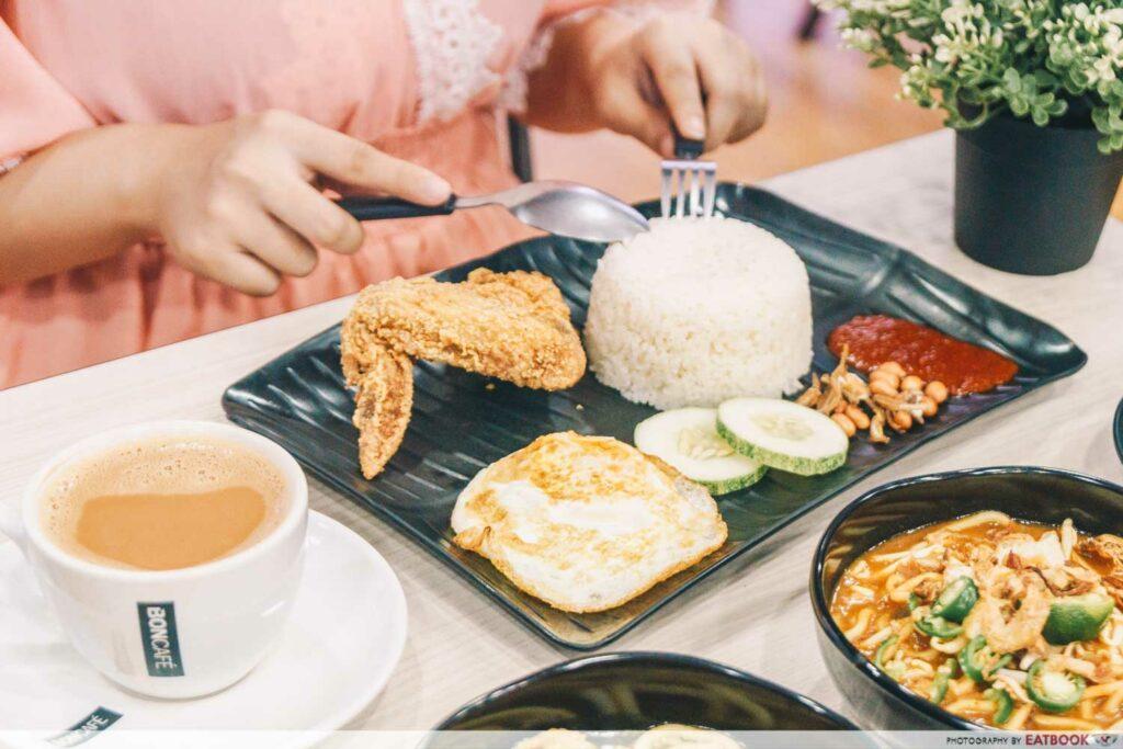 Tampines West Dining Spots Bola Cafe Nasi Lemak