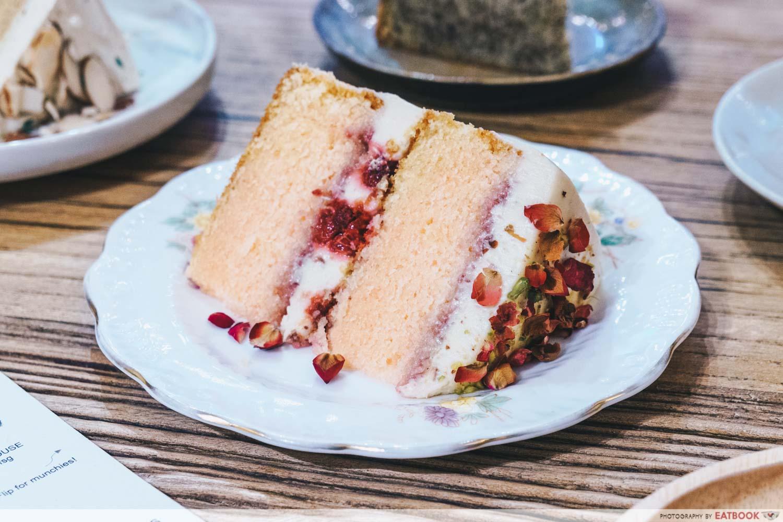 The Better Half - Rose Raspberry Cake slice