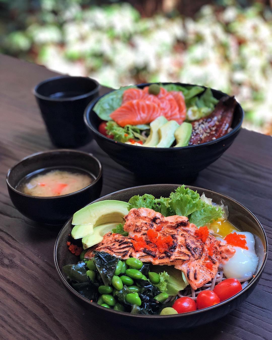 HEALTHY FOOD UNAGI VS SALMON