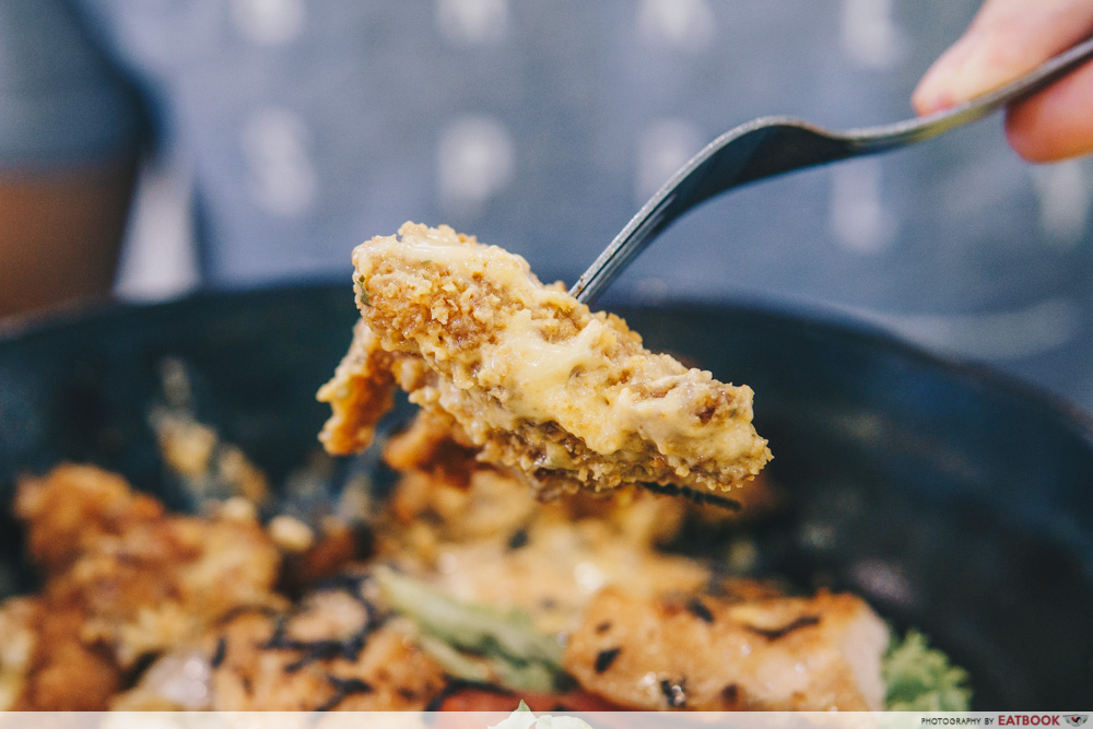 Bowl and Grill- Chicken cutlet with nacho cheese