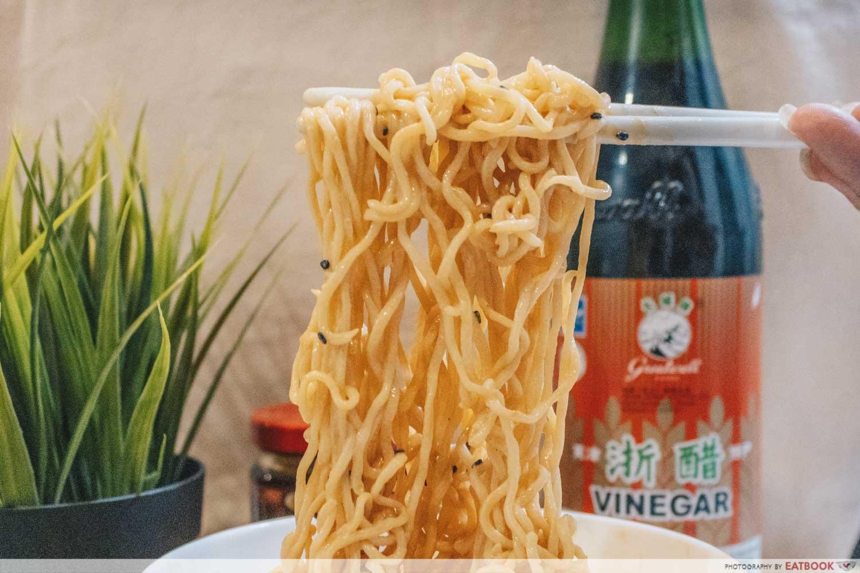Instant Noodles Recipes - Dan Dan Mian Close up