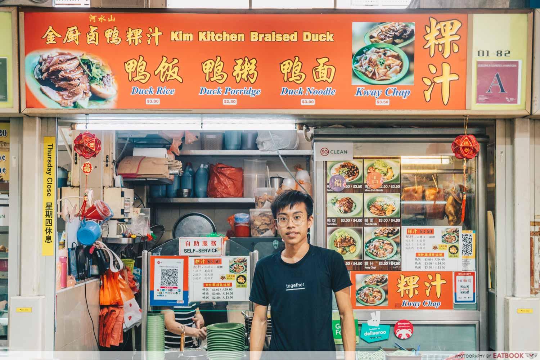 Kim Kitchen Braised Duck - Storefront shot with owner