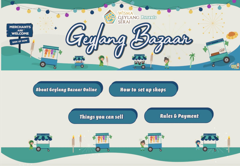 Online Ramadan Bazaars - Geylang bazaar online