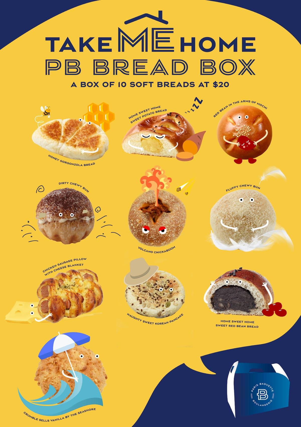 Paris Baguette Korean Soft Buns - Bread Box