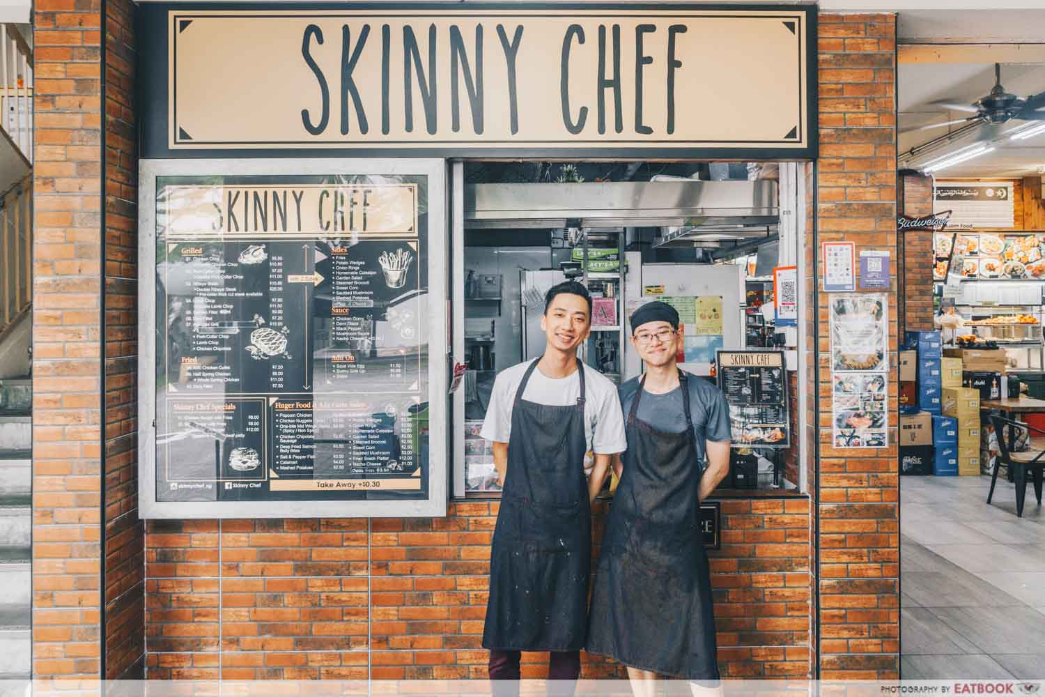 Skinny Chef - Storefront with owners