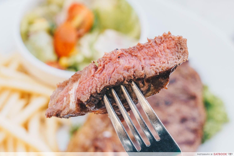 The Patio - Prime Striploin Steak Close up