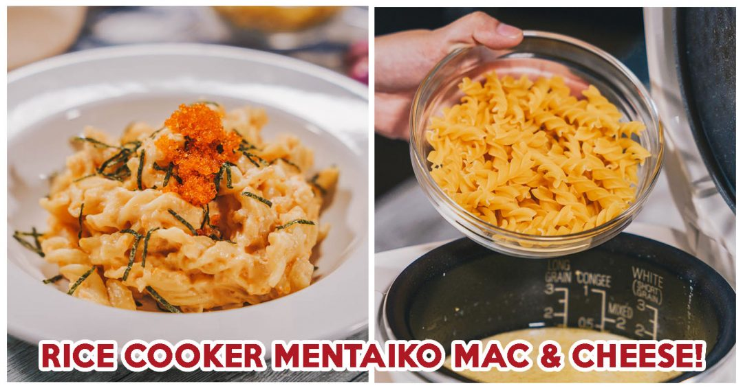 rice cooker mentaiko mac and cheese - feature image