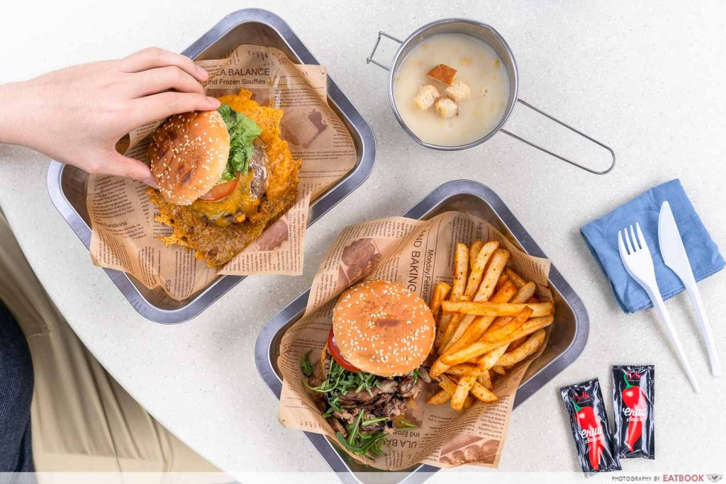 Hawker burger delivery - skirt and dirt