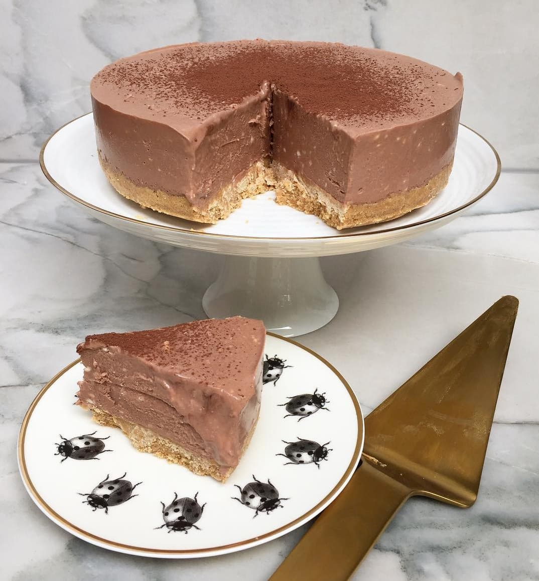 Milo Recipes - No-Bake Milo Cheesecake
