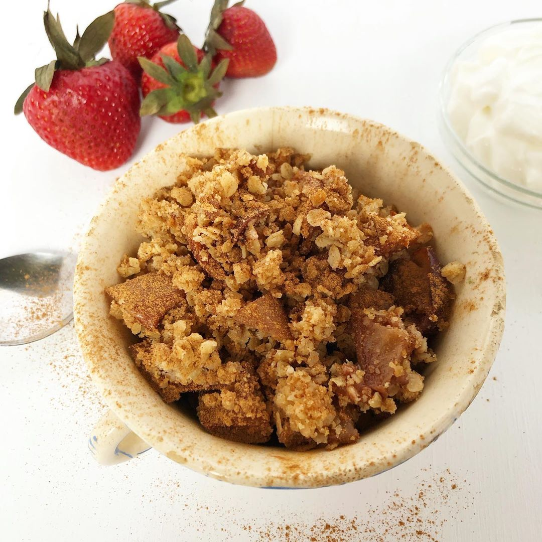 Mug Cake Recipes - Apple Crisp
