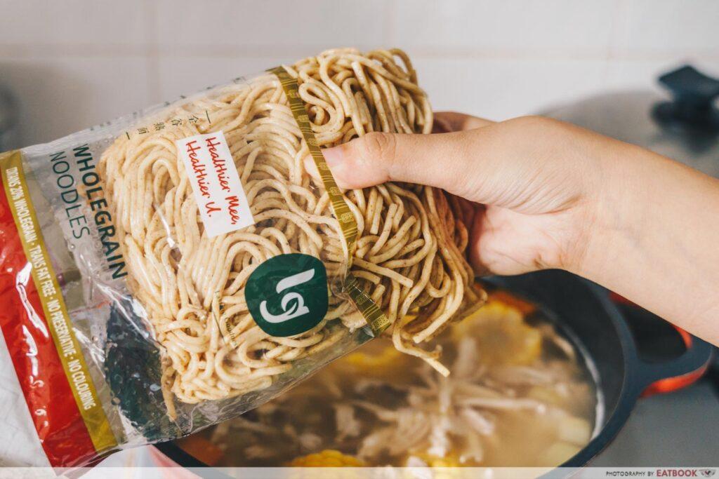 Rotisserie Chicken Noodle Soup Recipe LG whole meal noodles