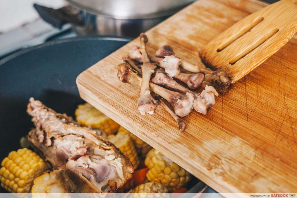 Rotisserie Chicken Noodle Soup Recipe chicken bones