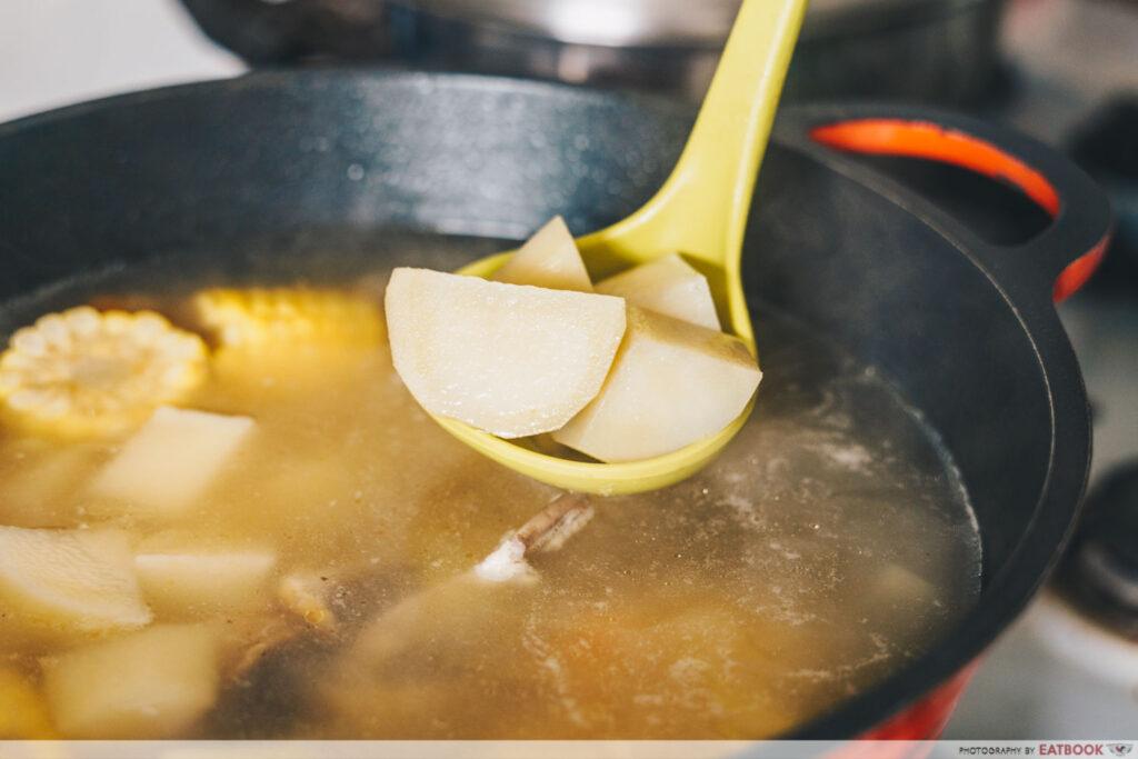 Rotisserie Chicken Noodle Soup Recipe cubed potatoes