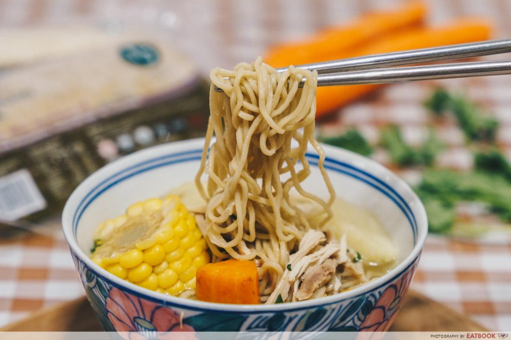 Rotisserie Chicken Noodle Soup Recipe noodle pull