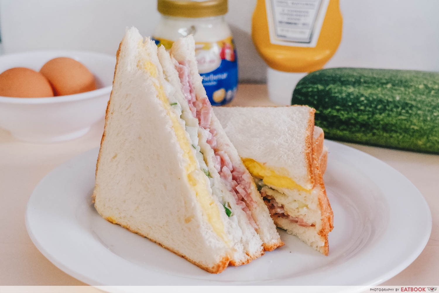 Sandwich Recipes - Three-Coloured Sandwich