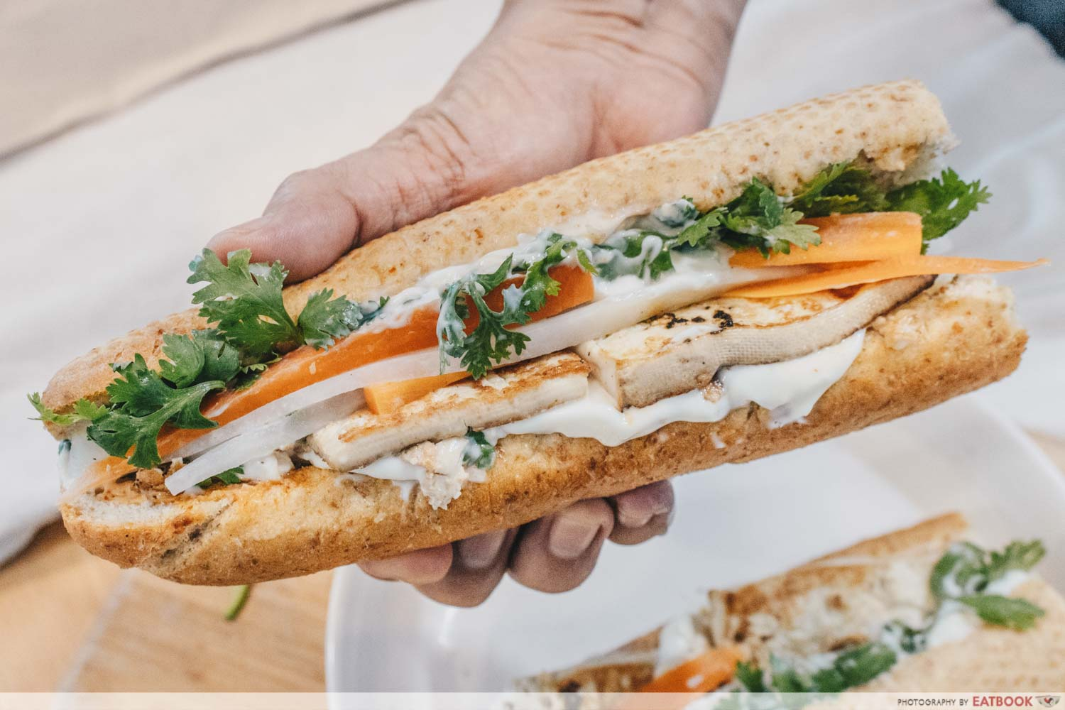 Sandwich Recipes - Tofu Banh Mi Close up