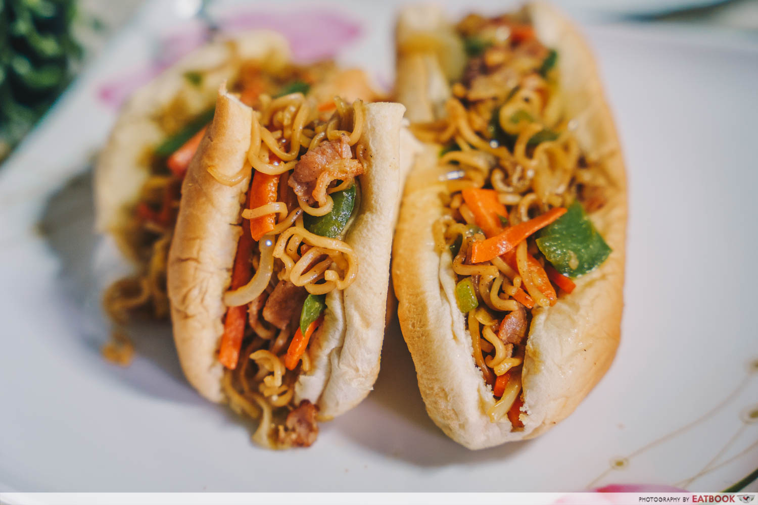 Sandwich Recipes - Yakisoba Bun