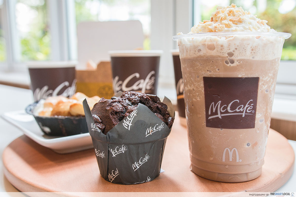 1-for-1 Cheesecake McDonald's - McCafe items