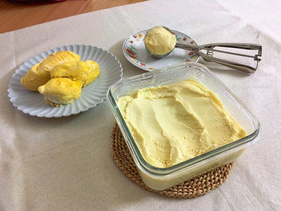Durian Dessert Recipes - Durian Ice Cream Frozen