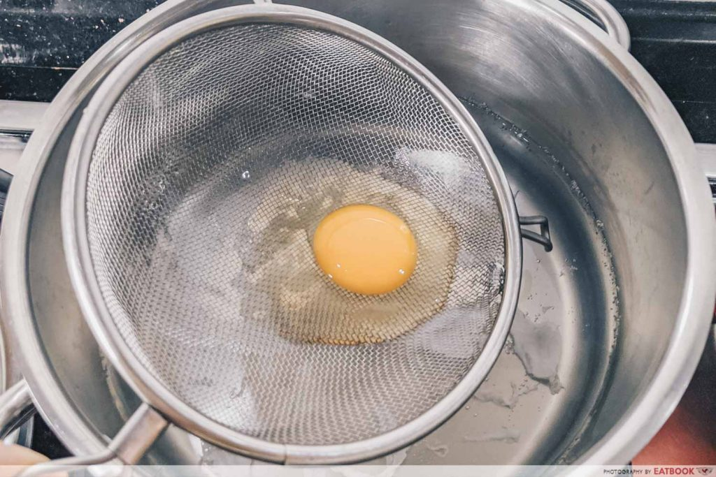 Easy Boiled Egg Recipes poached egg sieve