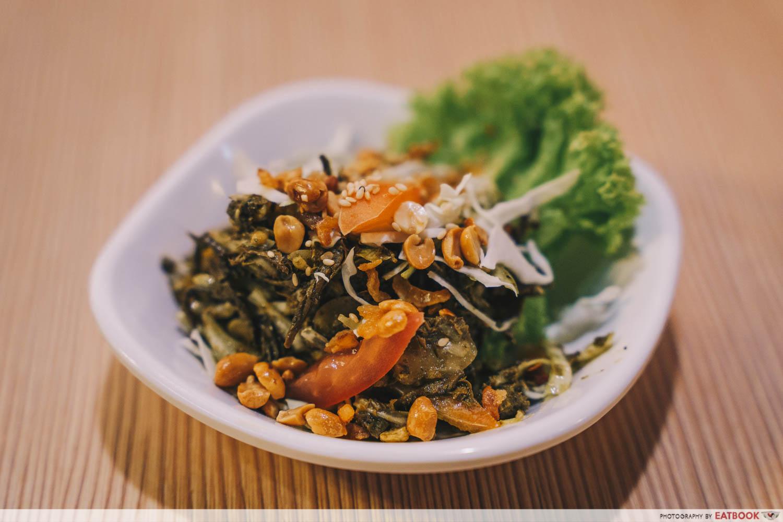 Inle Myanmar Restaurant -Pickled tea leave salad intro shot