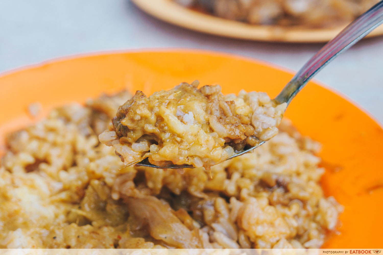 Loo's Hainanese Curry Rice - Spoonful of curry rice