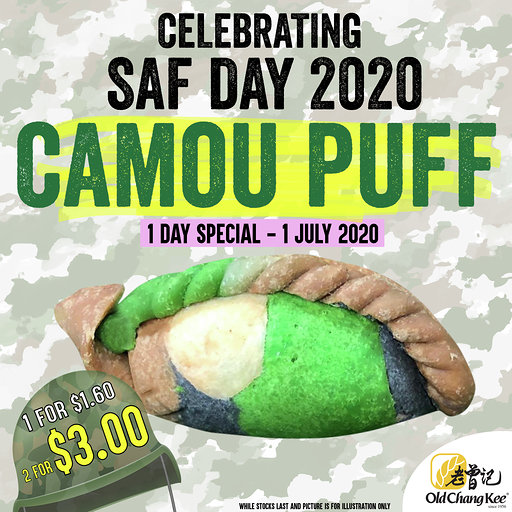 Old Chang Kee Camou Puffs - Promo