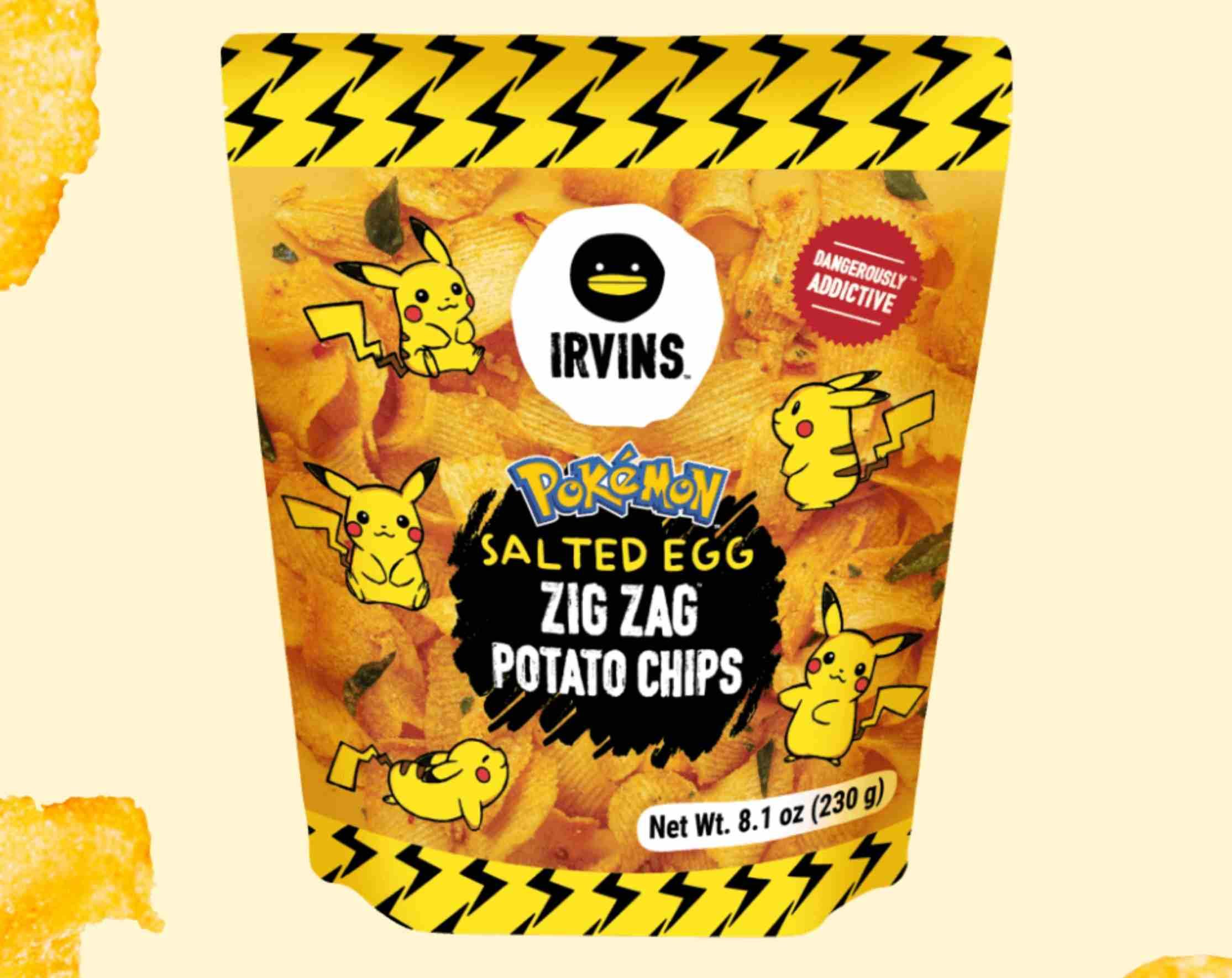 a bag of pikachu chips