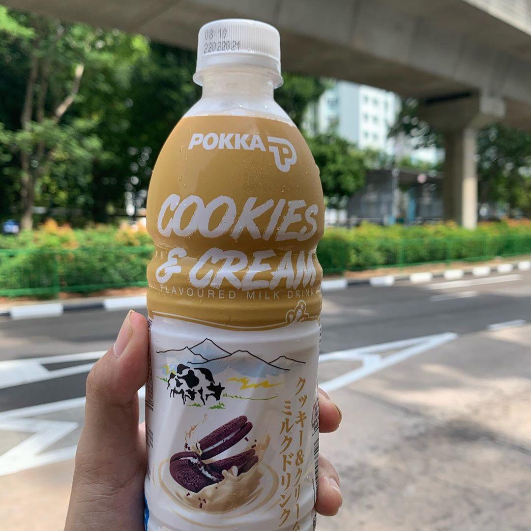 Pokka Cookies Cream Milk - Cookies & Cream Bottled Drink