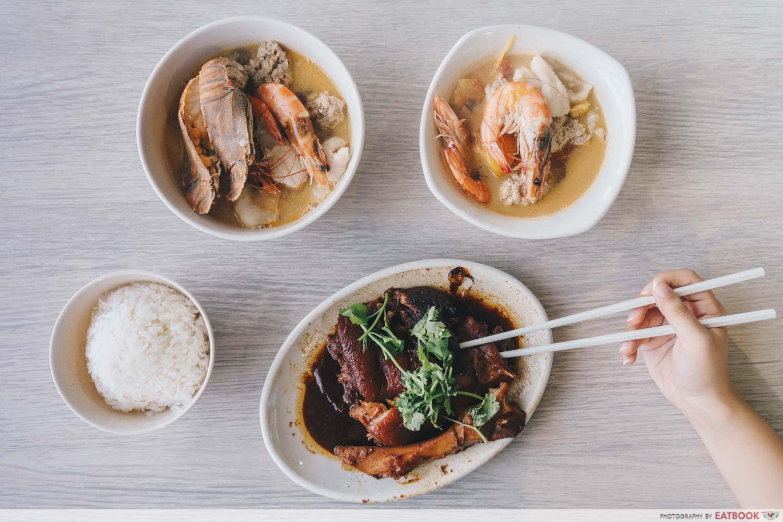 Yan Ji Seafood Soup - Flatlay