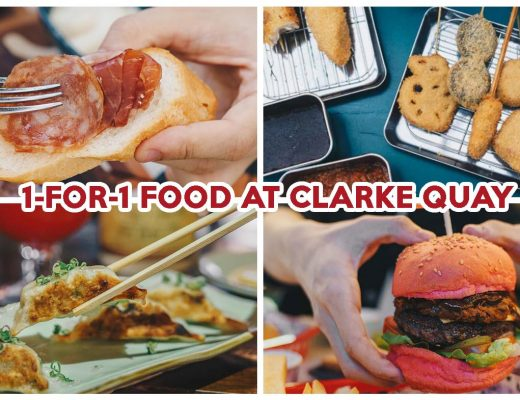 1-for-1 deals at clarke quay