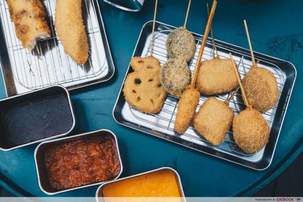 1-for-1 deals at clarke quay kushikatsu tanakaw food