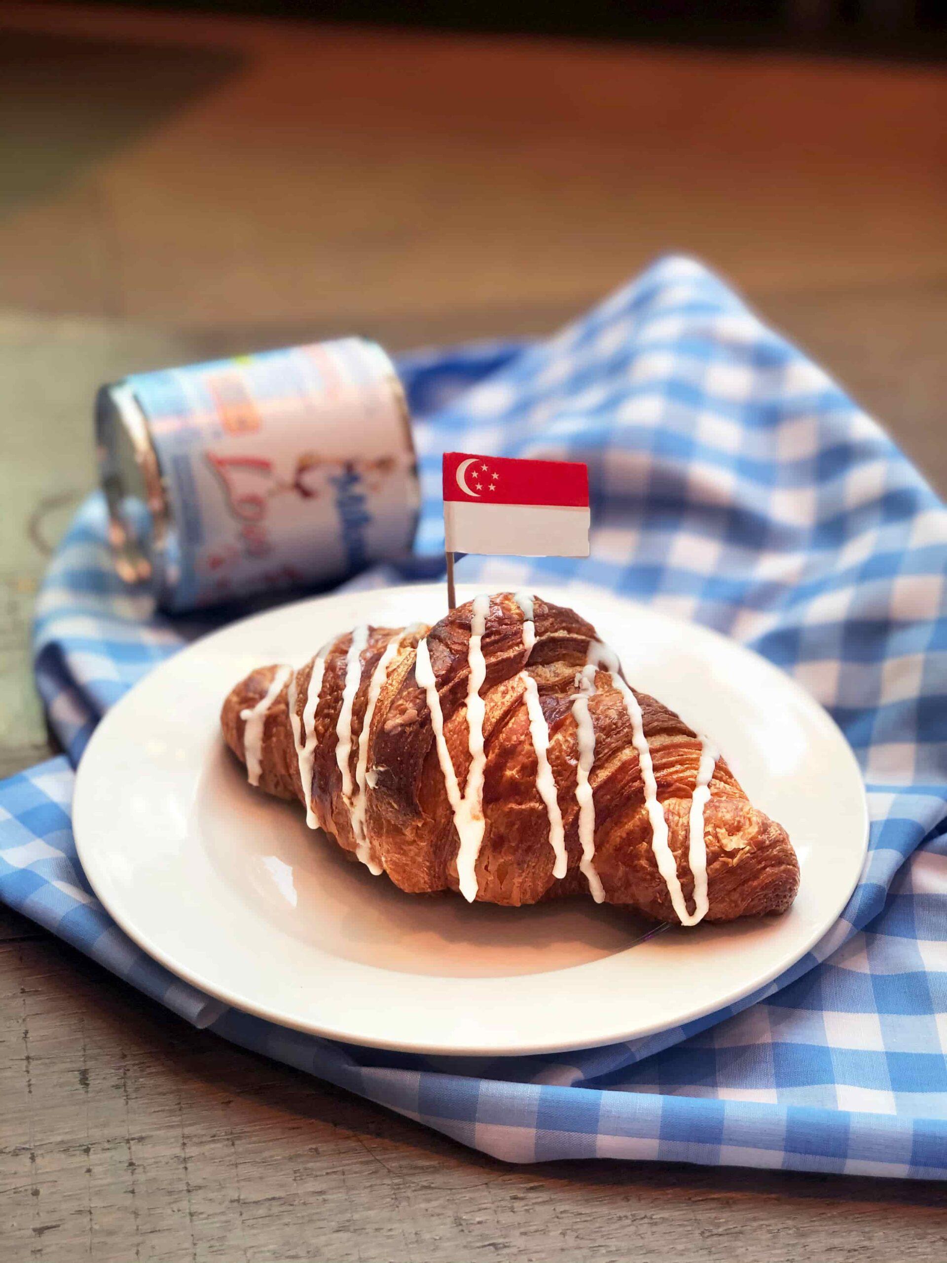 Condensed milk croissant