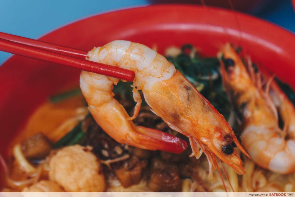 One Prawn Noodle prawn noodle soup