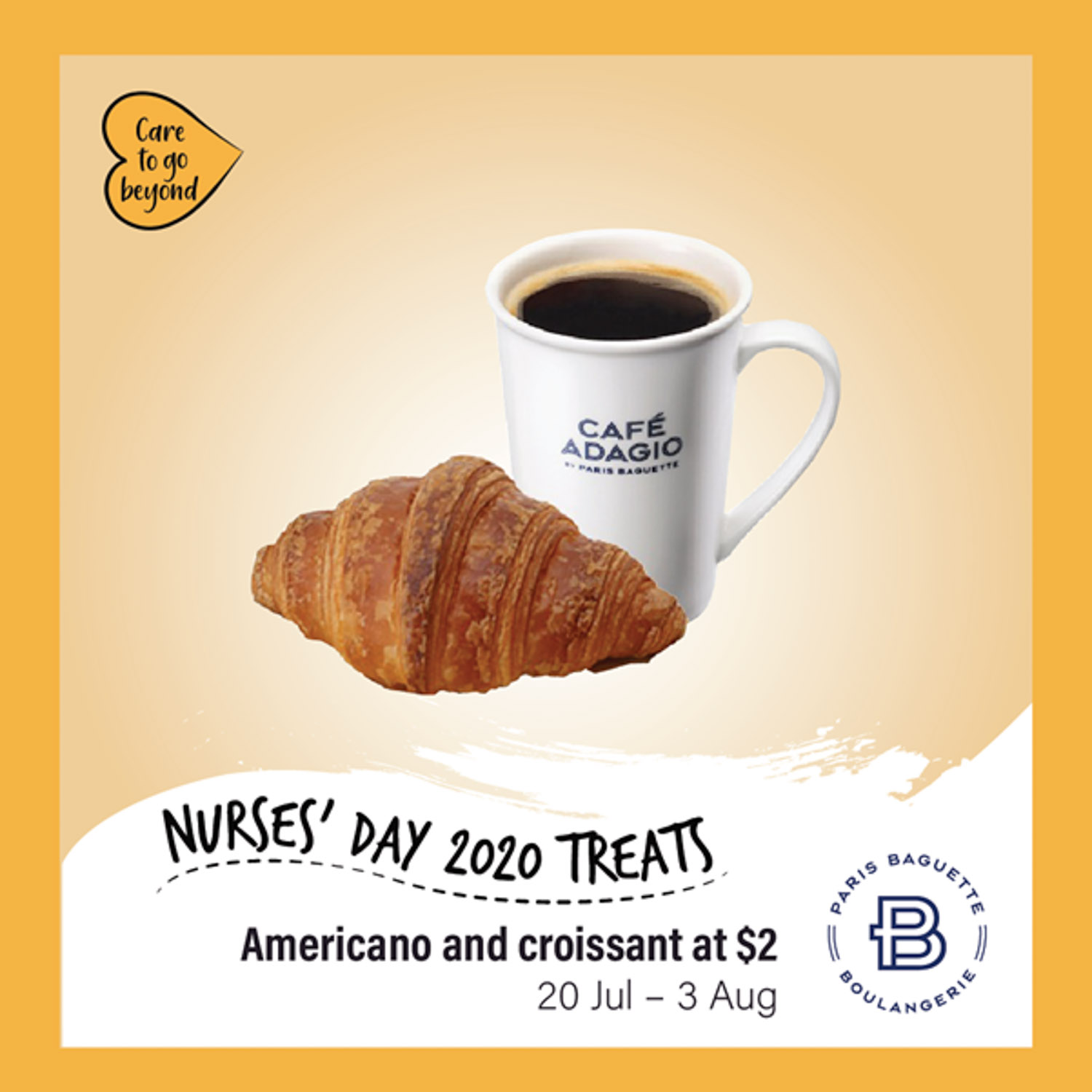 Paris Baguette 5-for-5 - nurses day $2 croissant set