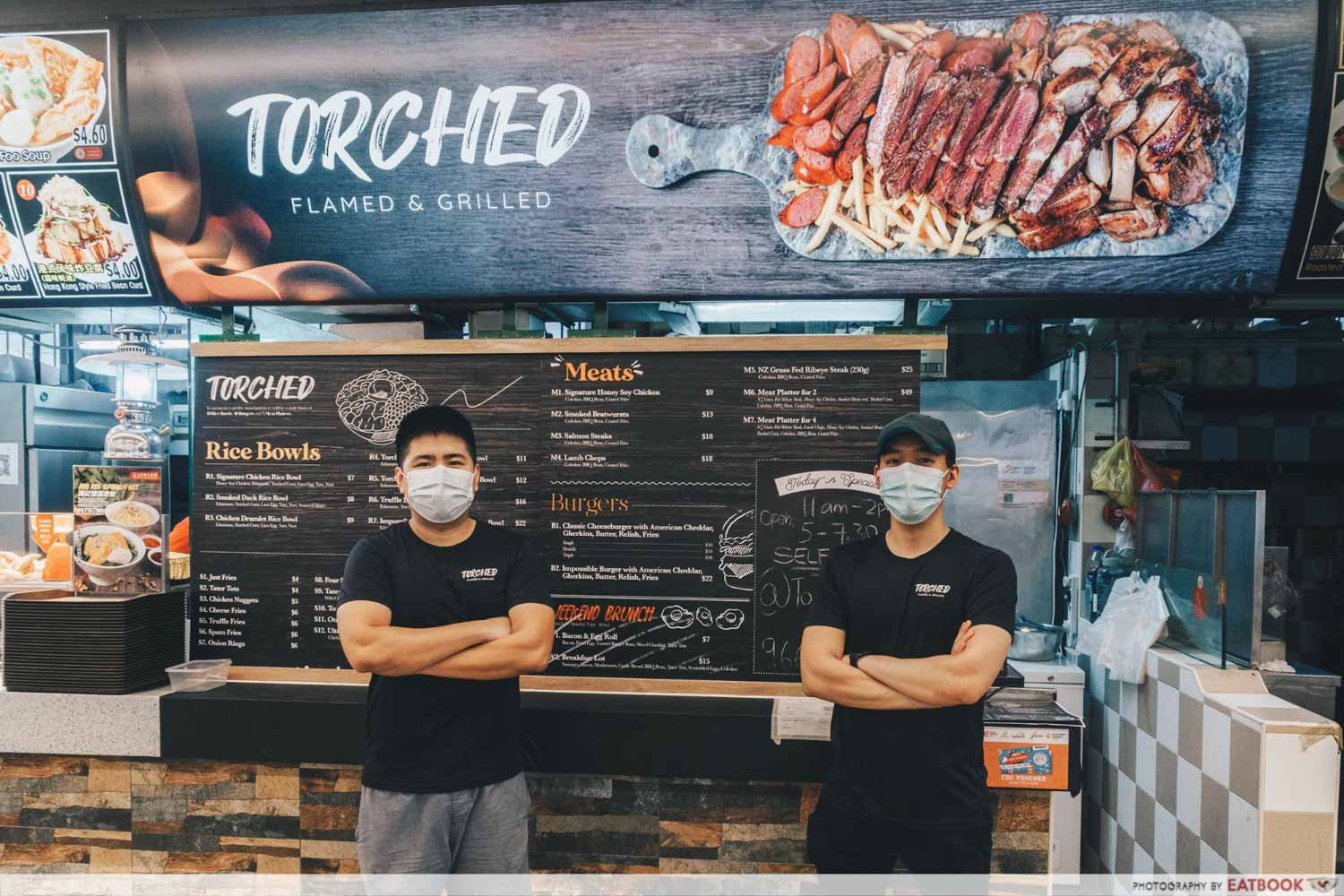 TORCHED meat platter - owner and chef