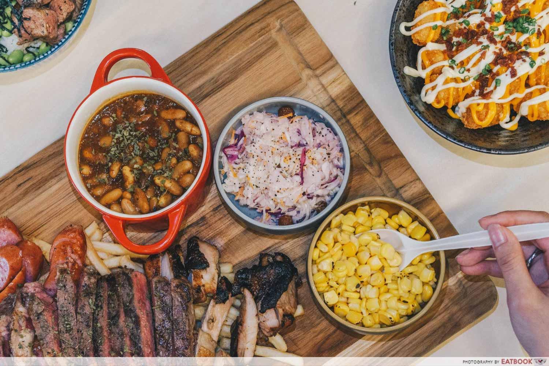 TORCHED meat platter - sides