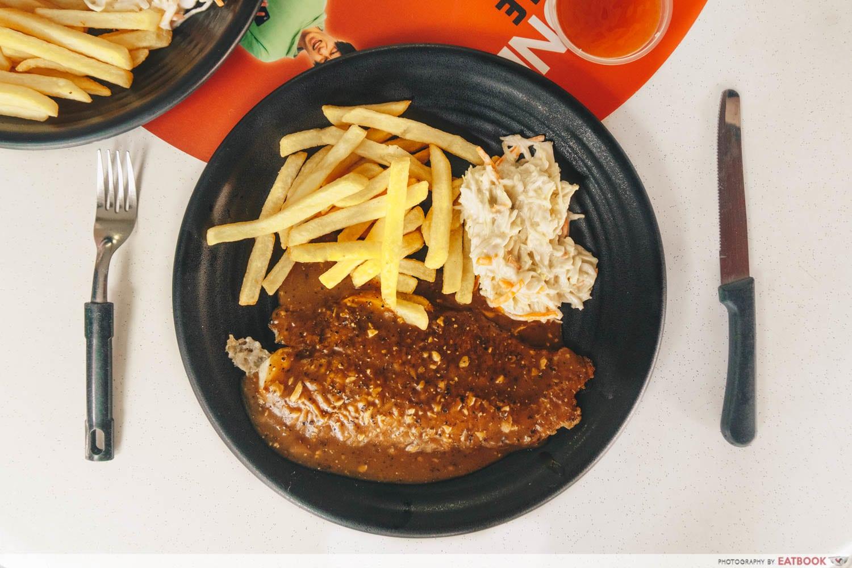 Chicken Box - grilled fish black pepper