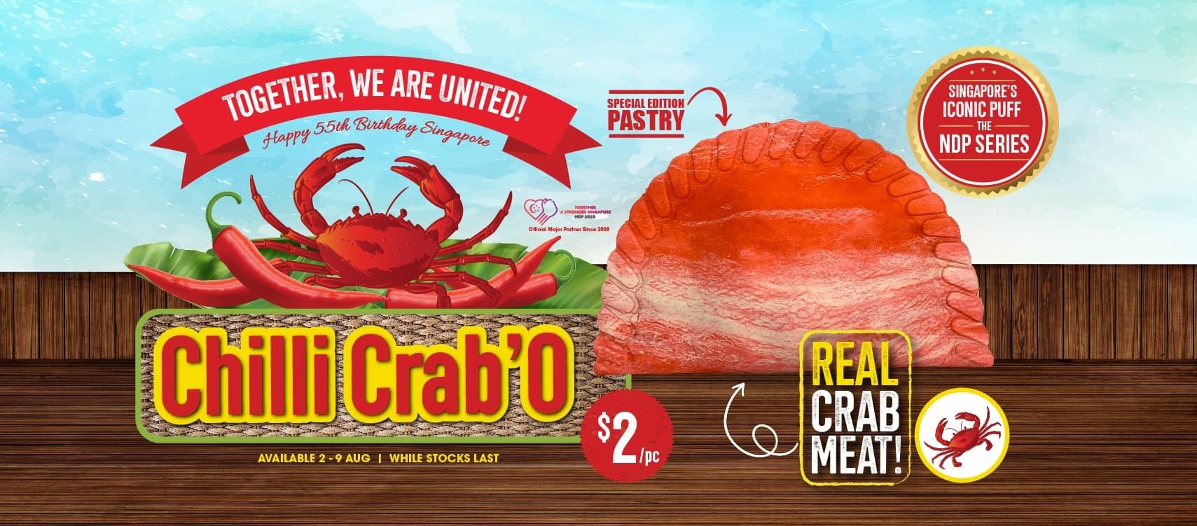 Chilli Crab'O puff