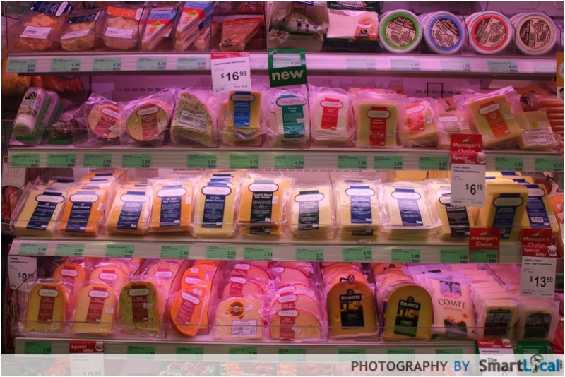Cold Storage cheese selection