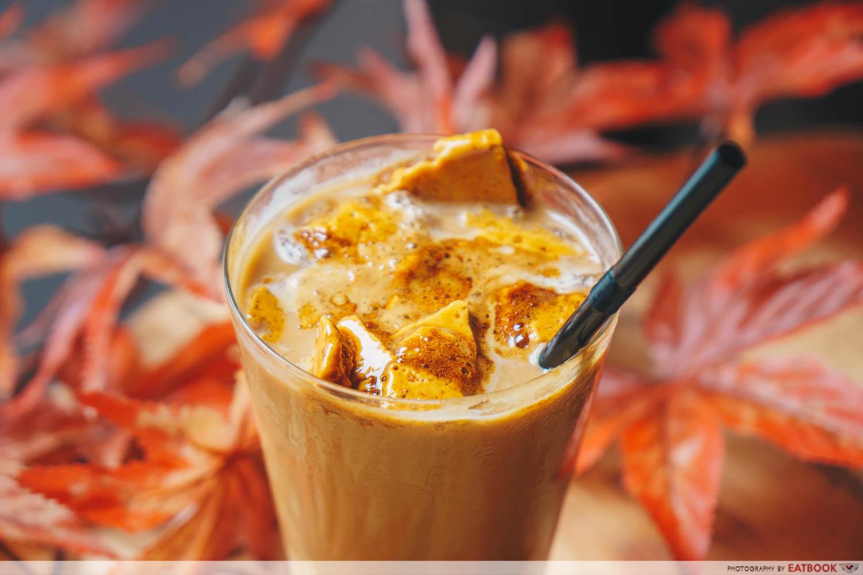 Dalgona Ice Latte Topping